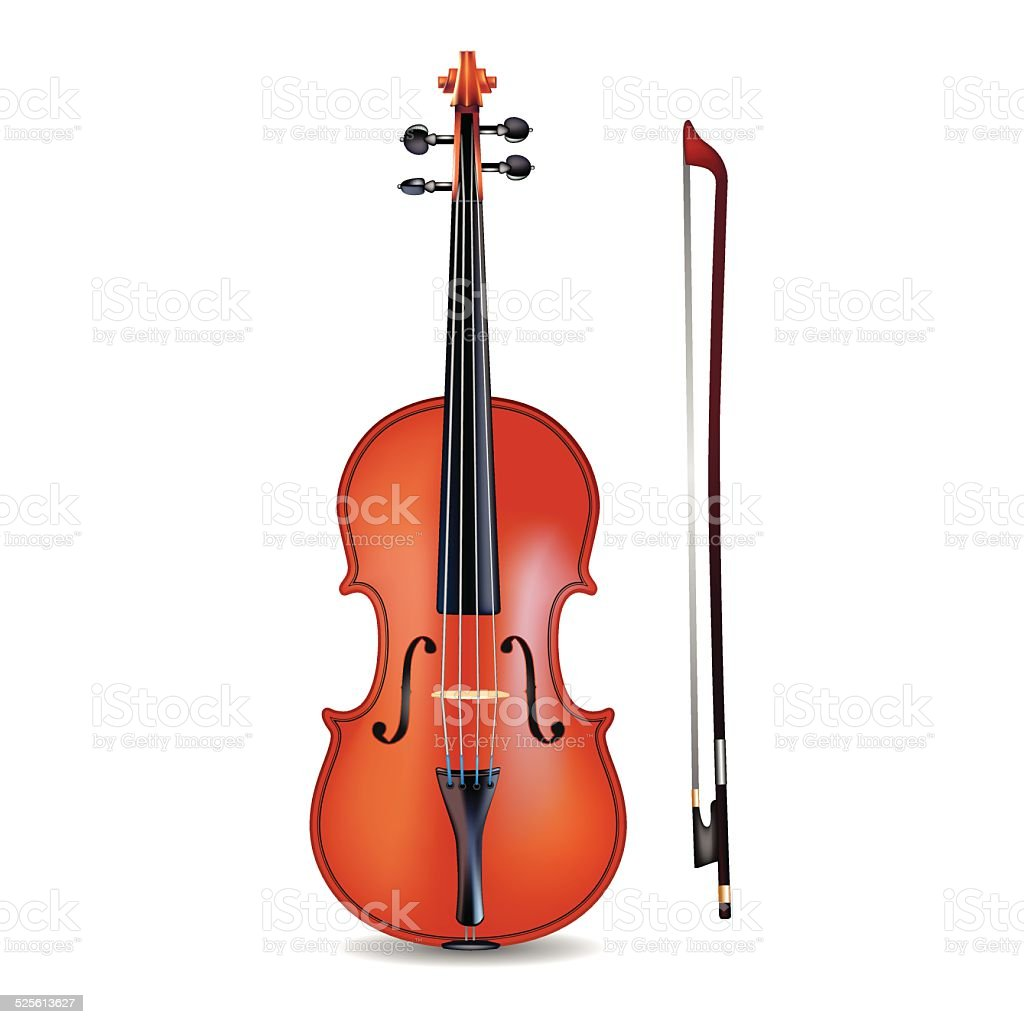 Violin vector art illustration