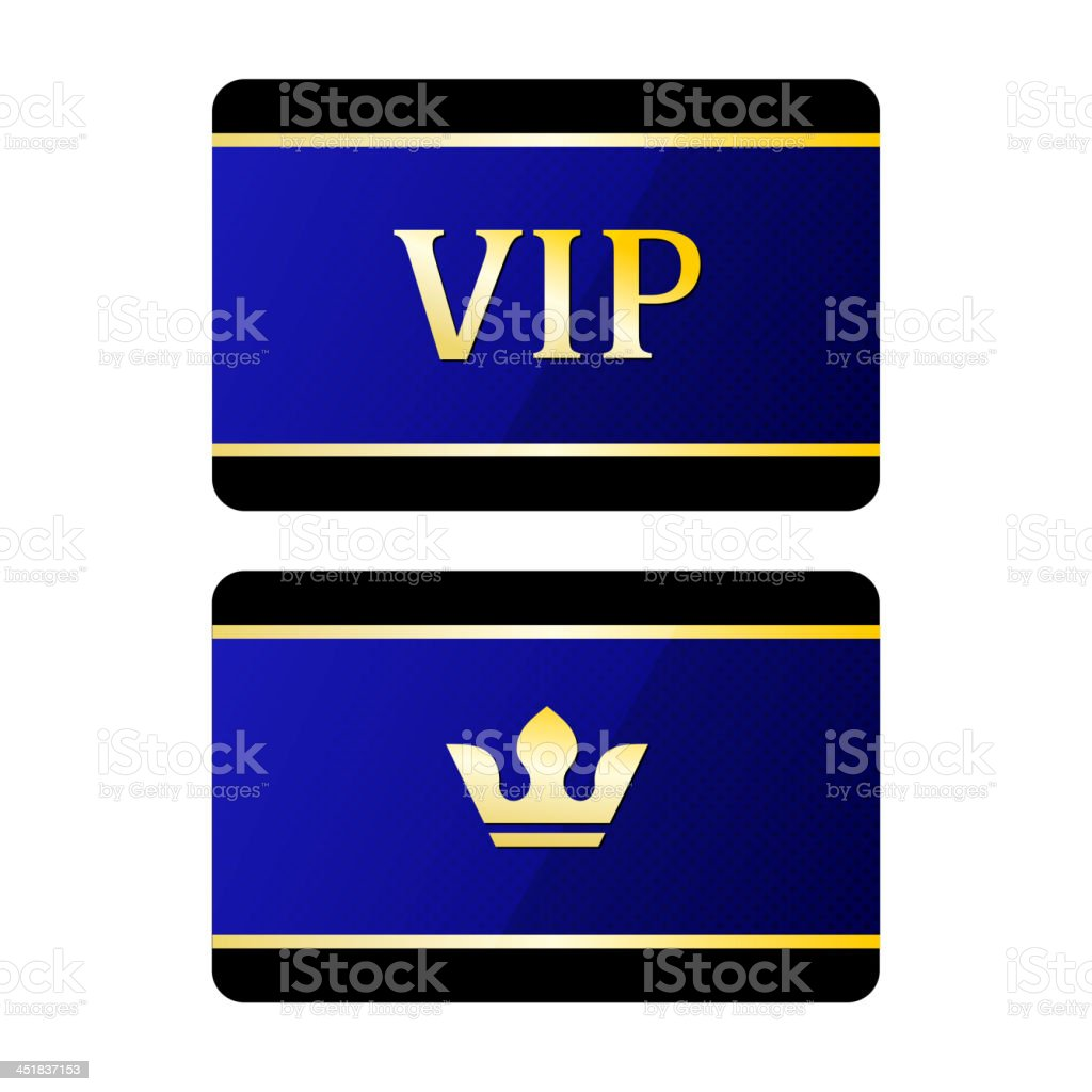 Vip cards with crown royalty-free stock vector art