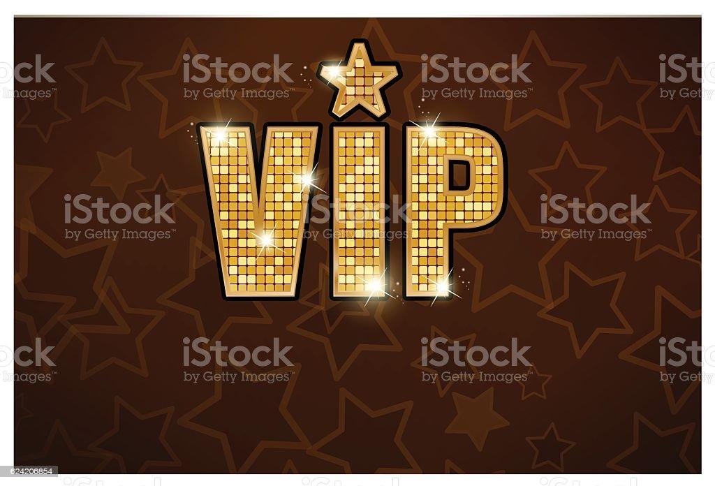 vip gold star black icon vector art illustration