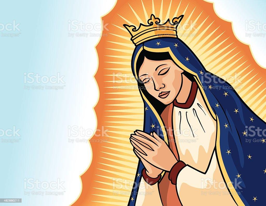 Virgen de Guadalupe royalty-free stock vector art