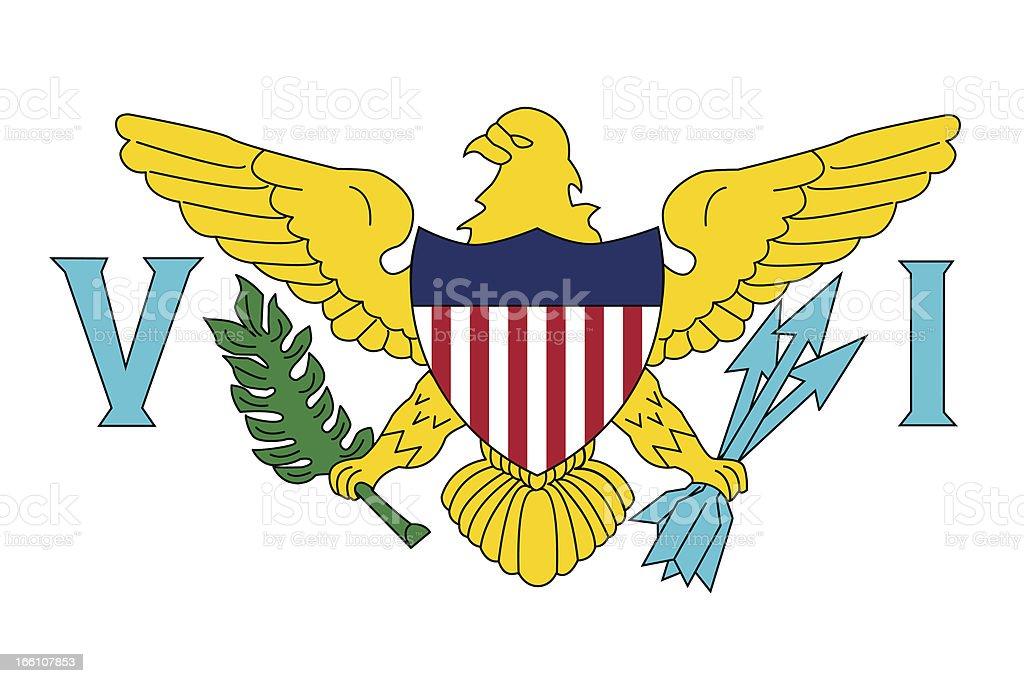 U.S. Virgin Islands Flag royalty-free stock vector art
