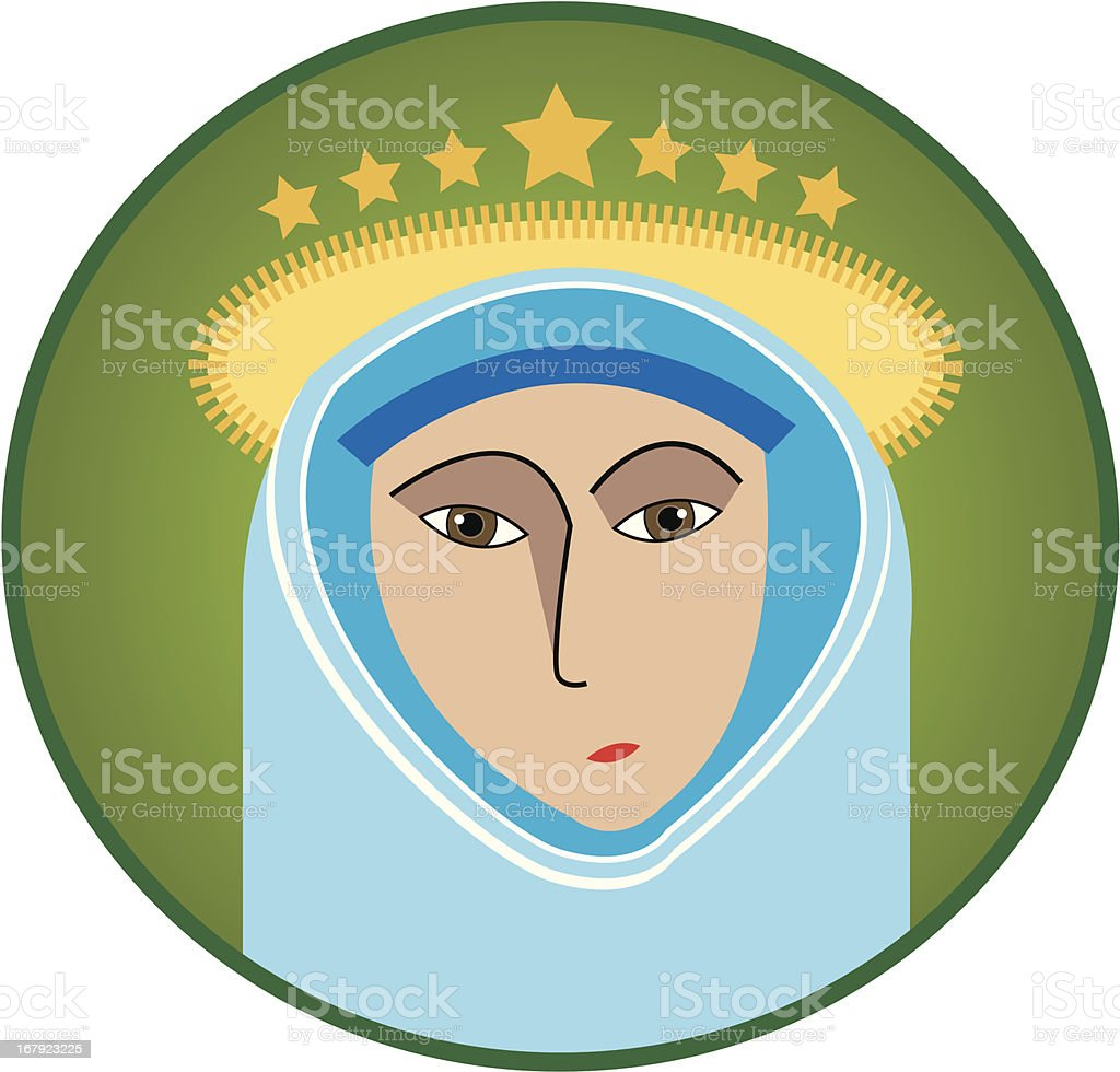 Virgin Mary vector art illustration