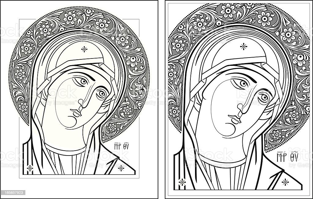 Virgin Oplechnaya outline11-12 vector picture royalty-free stock vector art