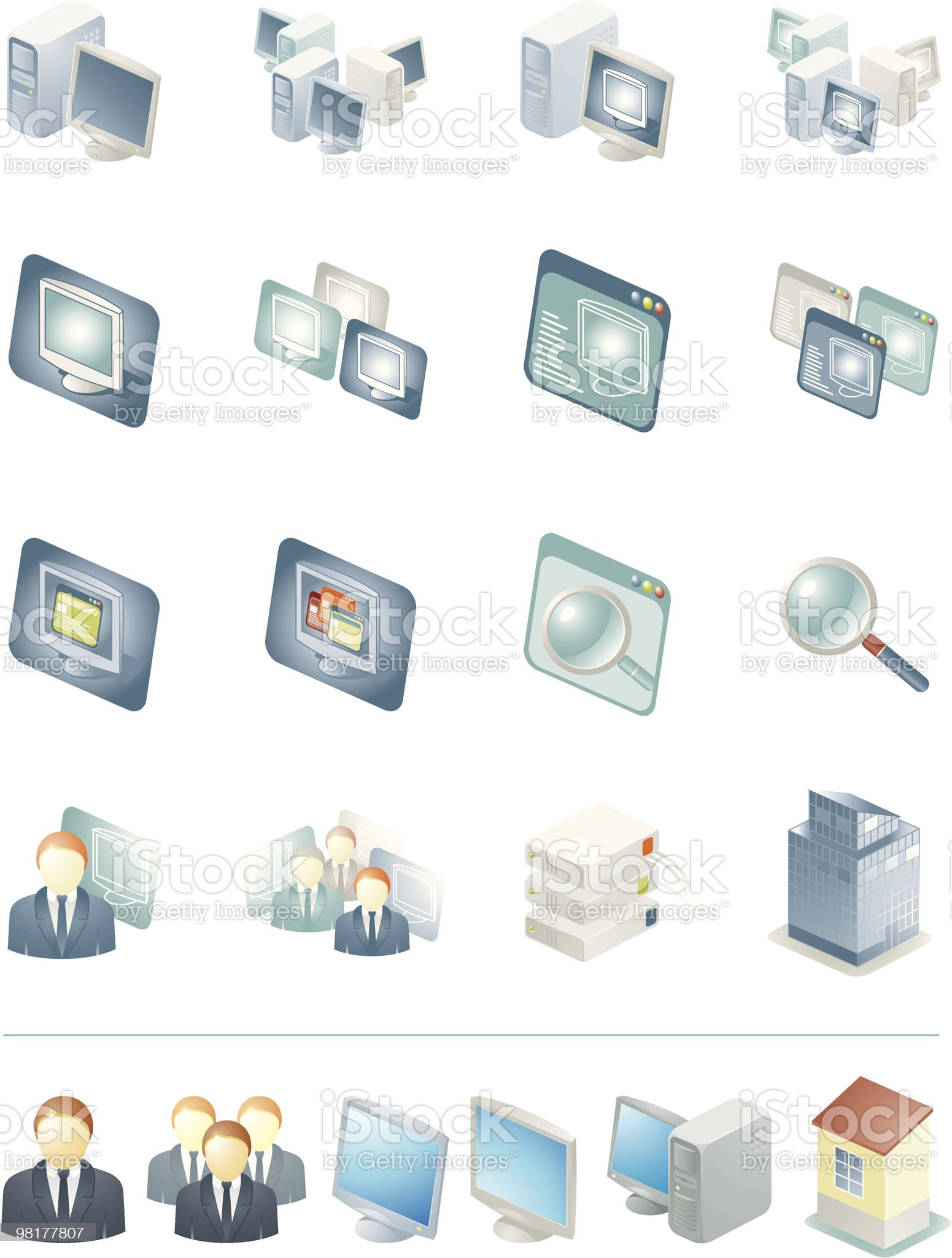 Virtual Machine royalty-free stock vector art