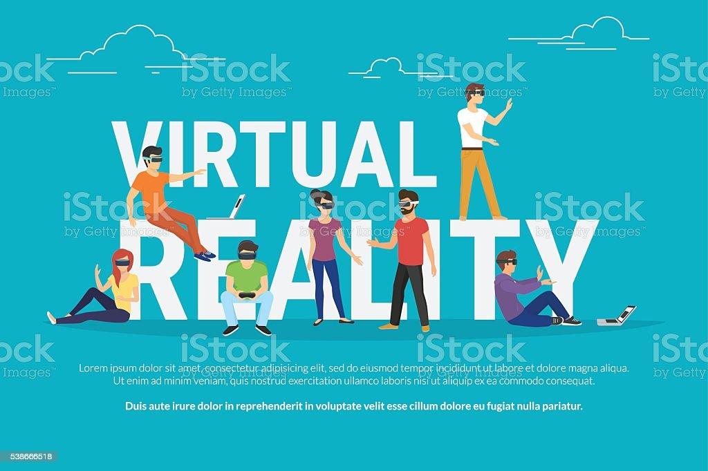 Virtual reality concept illustration vector art illustration