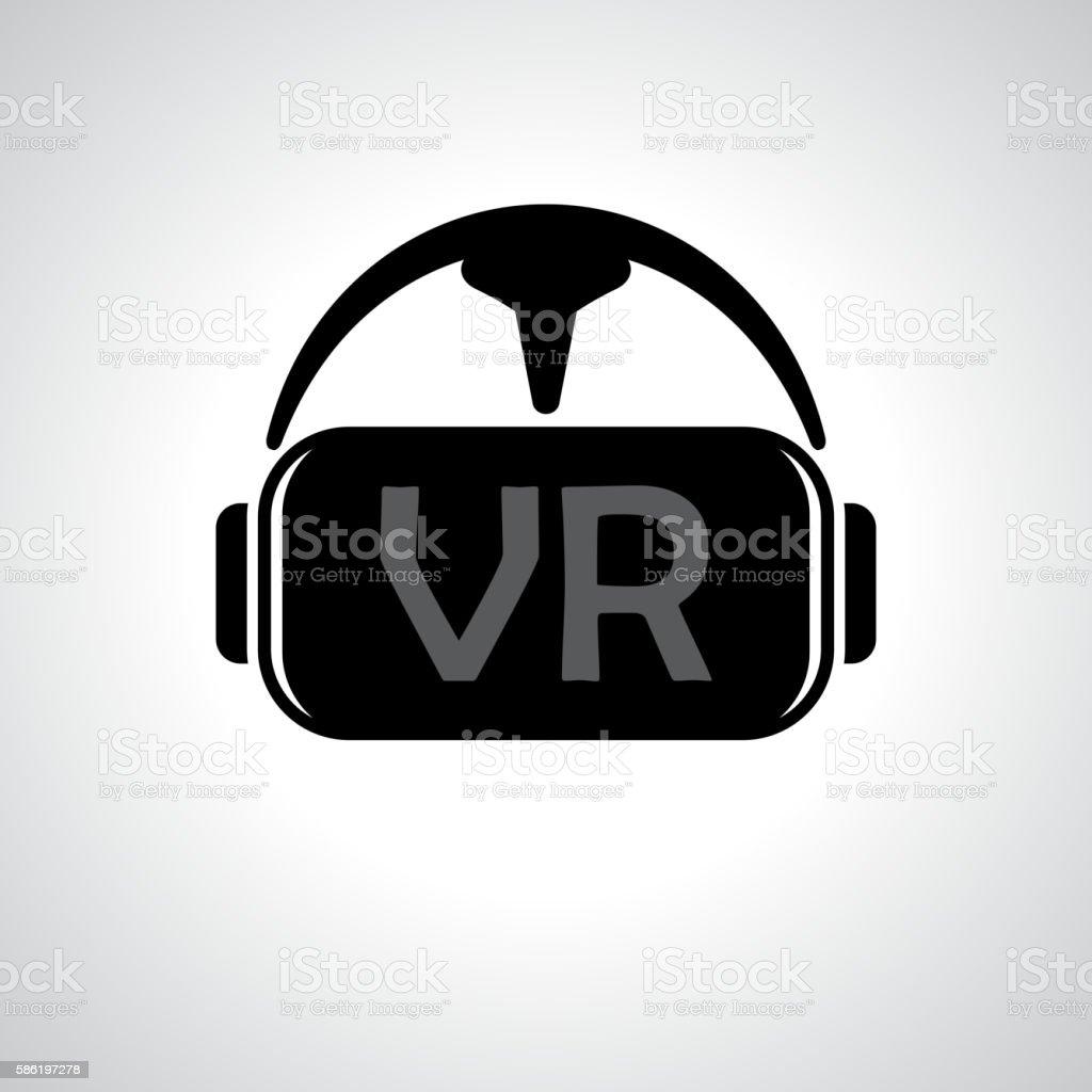 Virtual reality glasses background vector art illustration
