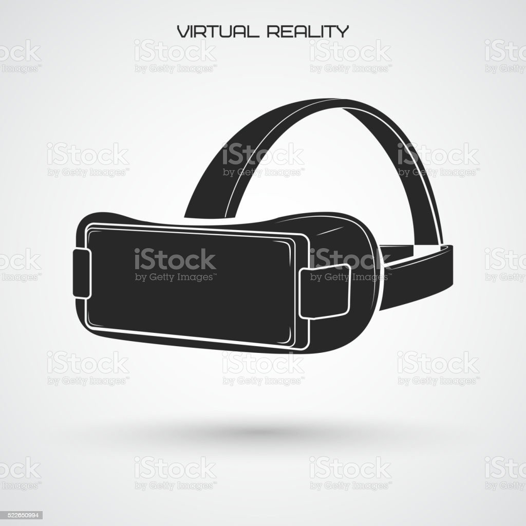 Virtual reality glasses vector art illustration