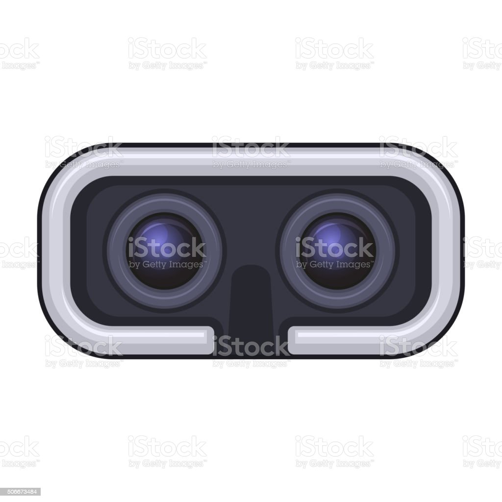 Virtual Reality Headset for Gaming and Entertainment. Vector Icon vector art illustration