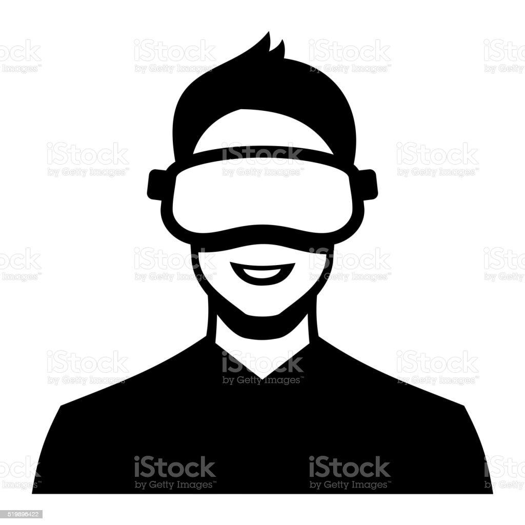 Virtual Reality Headset Icon. Vector vector art illustration