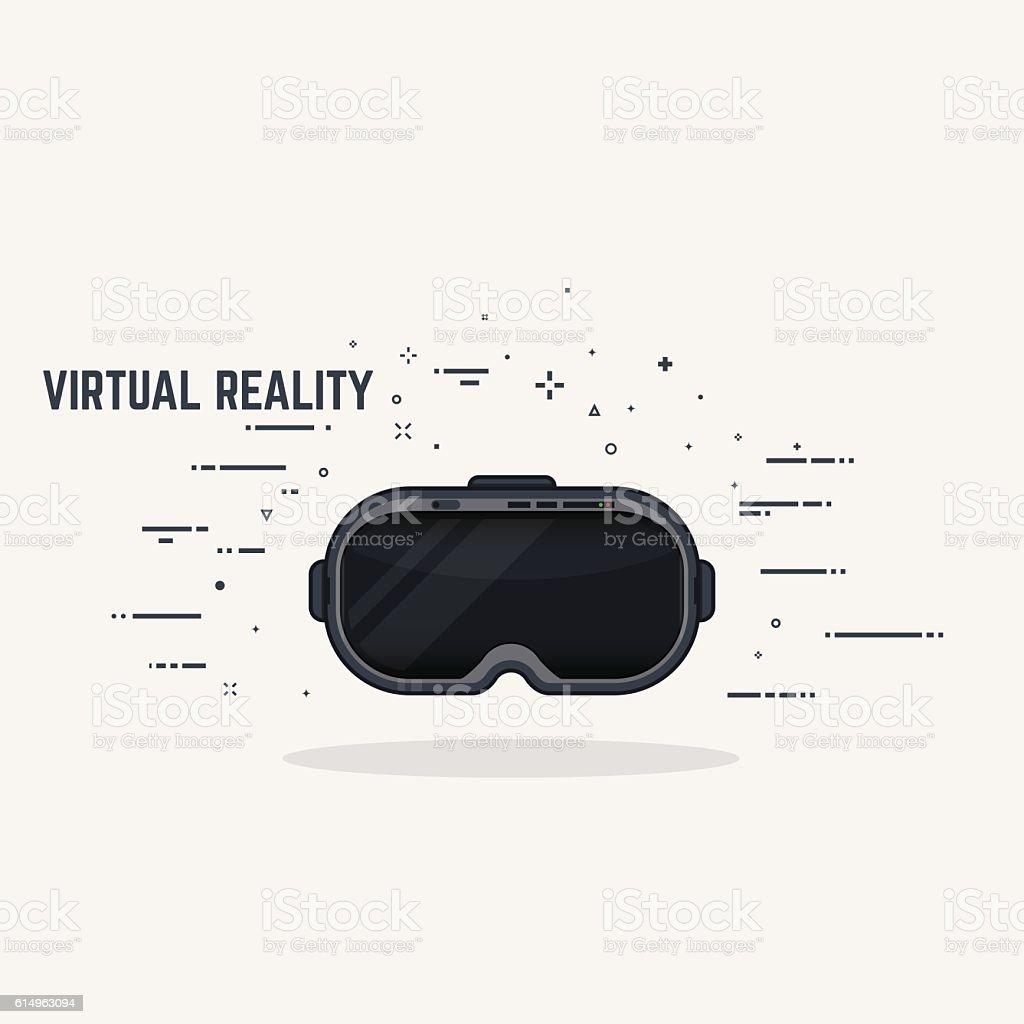 Virtual reality headset vector art illustration