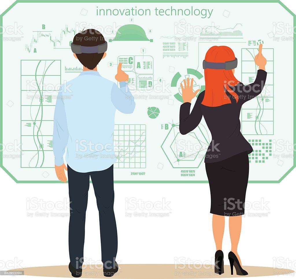 Virtual reality. New technologies. vector art illustration