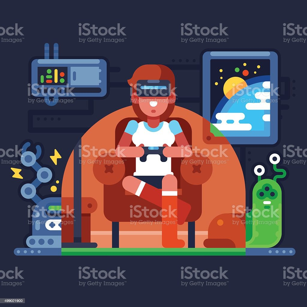 Virtual Reality vector art illustration