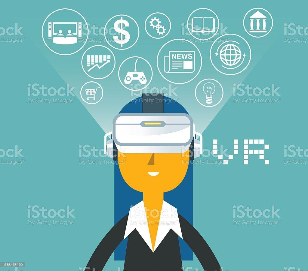 Virtual Reality vector art illustration