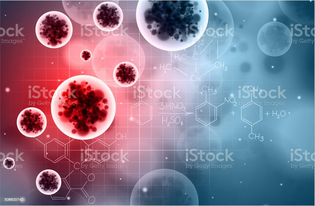 Virus background vector art illustration