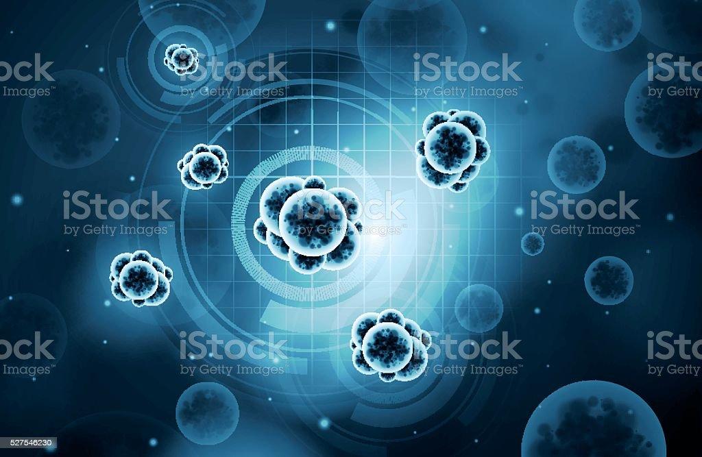 Virus background vector art illustration