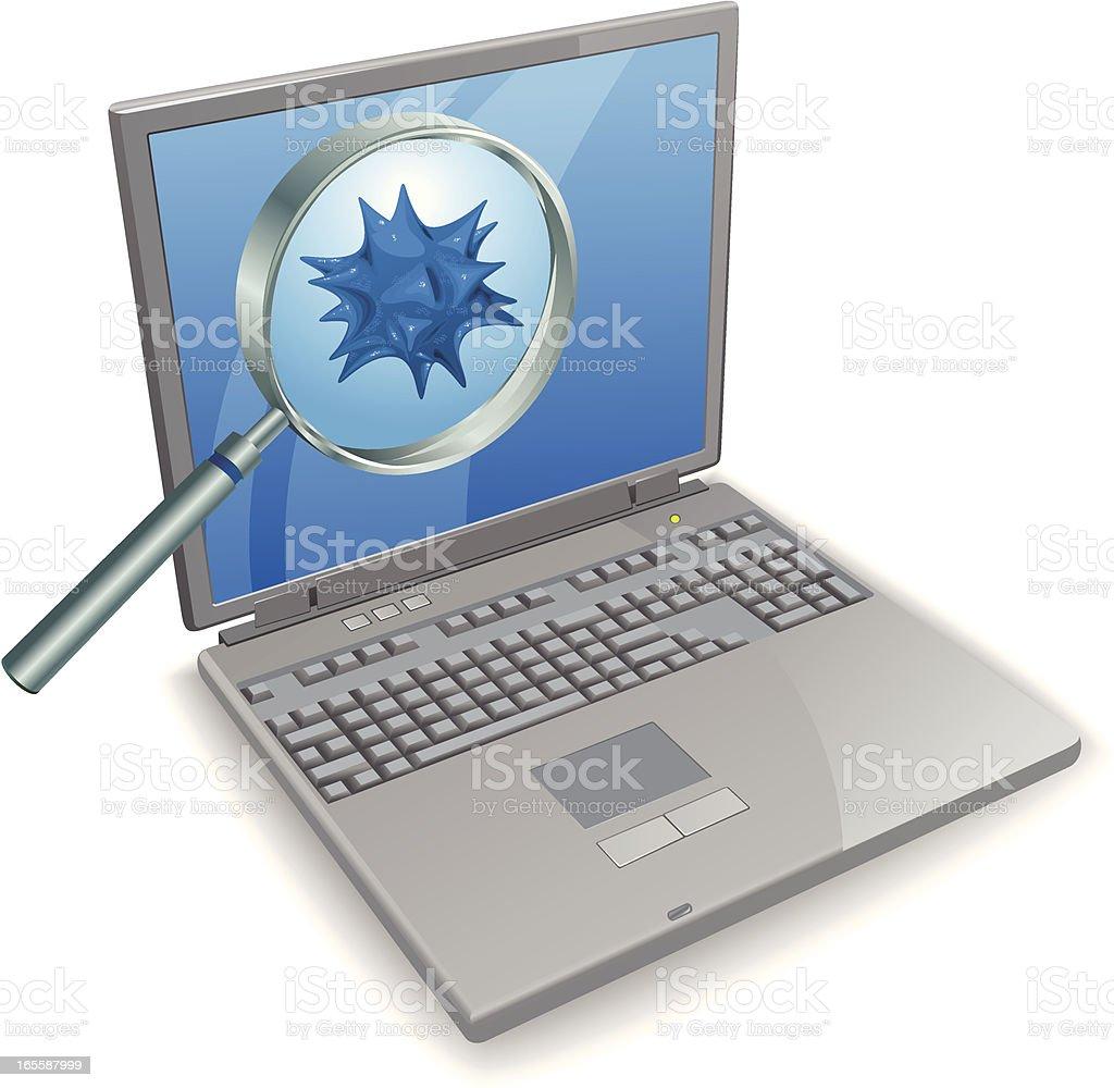 Virus found! royalty-free stock vector art