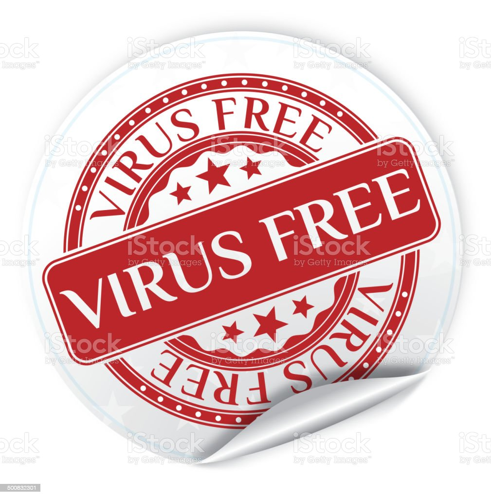 Virus Free Sticker royalty-free stock vector art