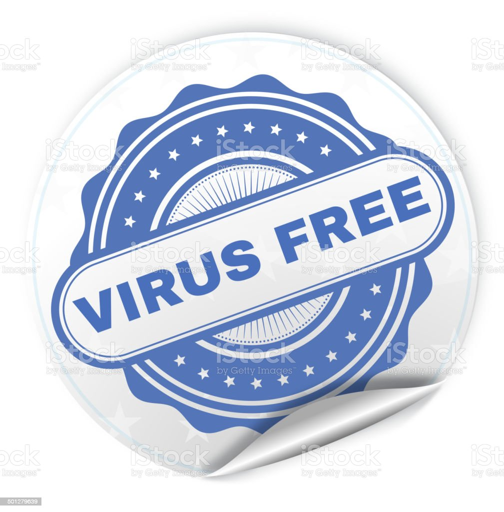 Virus free royalty-free stock vector art