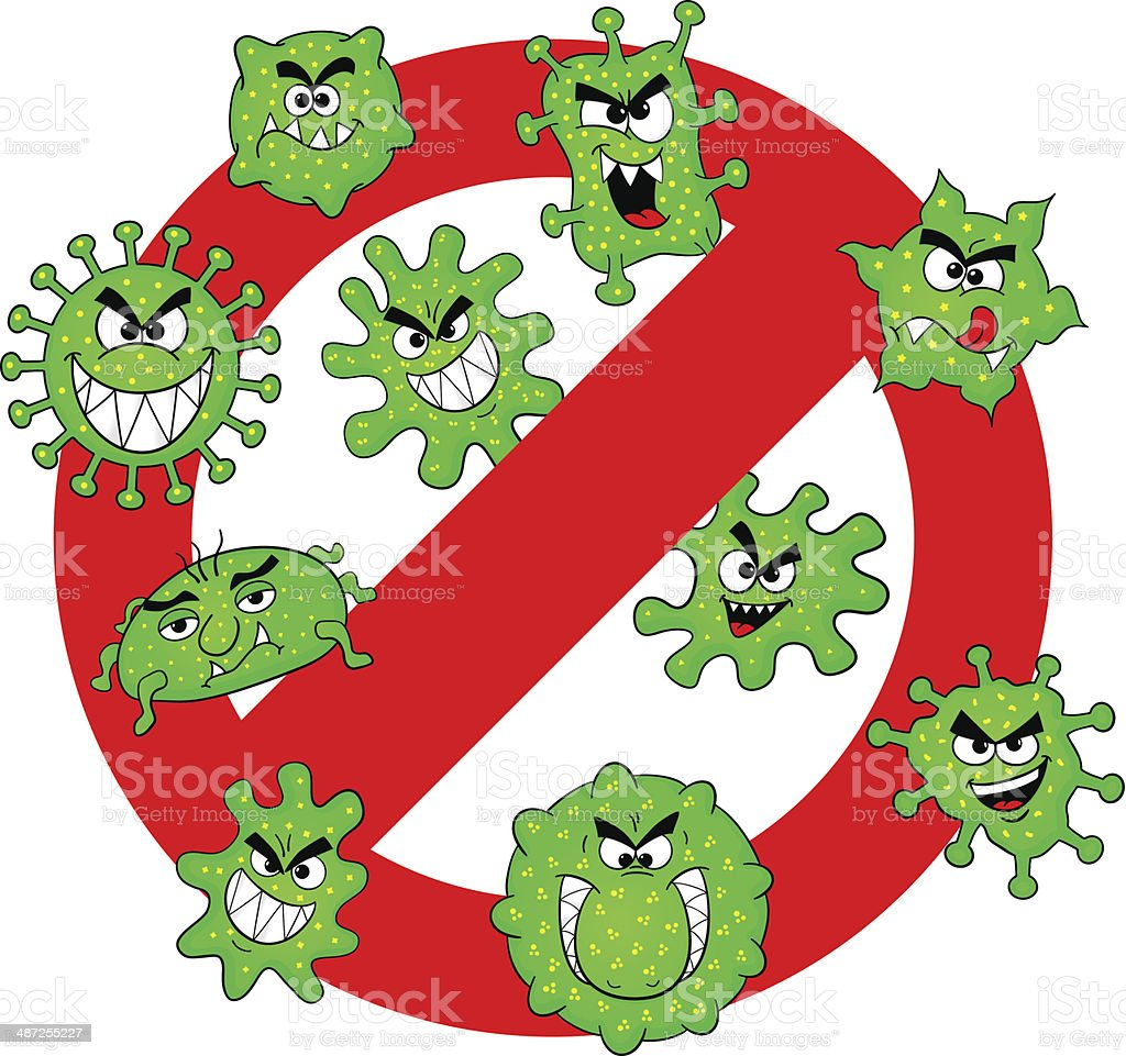 viruses are not permitted royalty-free stock vector art