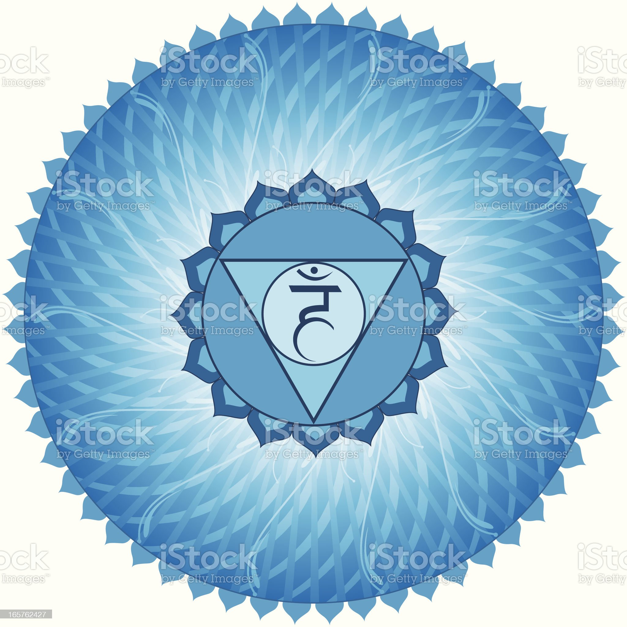 Vishuddha Chakra royalty-free stock vector art