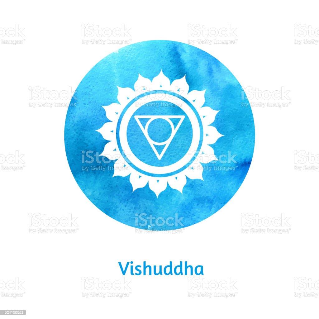 Vishuddha chakra. vector art illustration