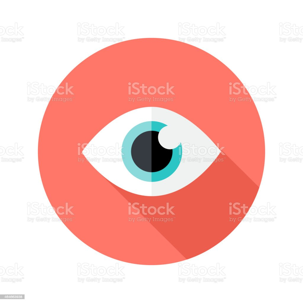 Vision Eye Circle Flat Icon vector art illustration