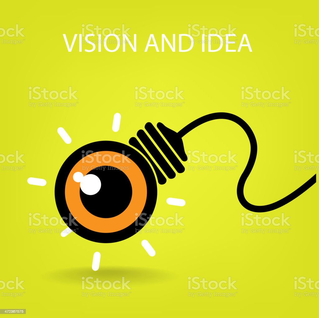vision ideas concepts , creative sign royalty-free stock vector art