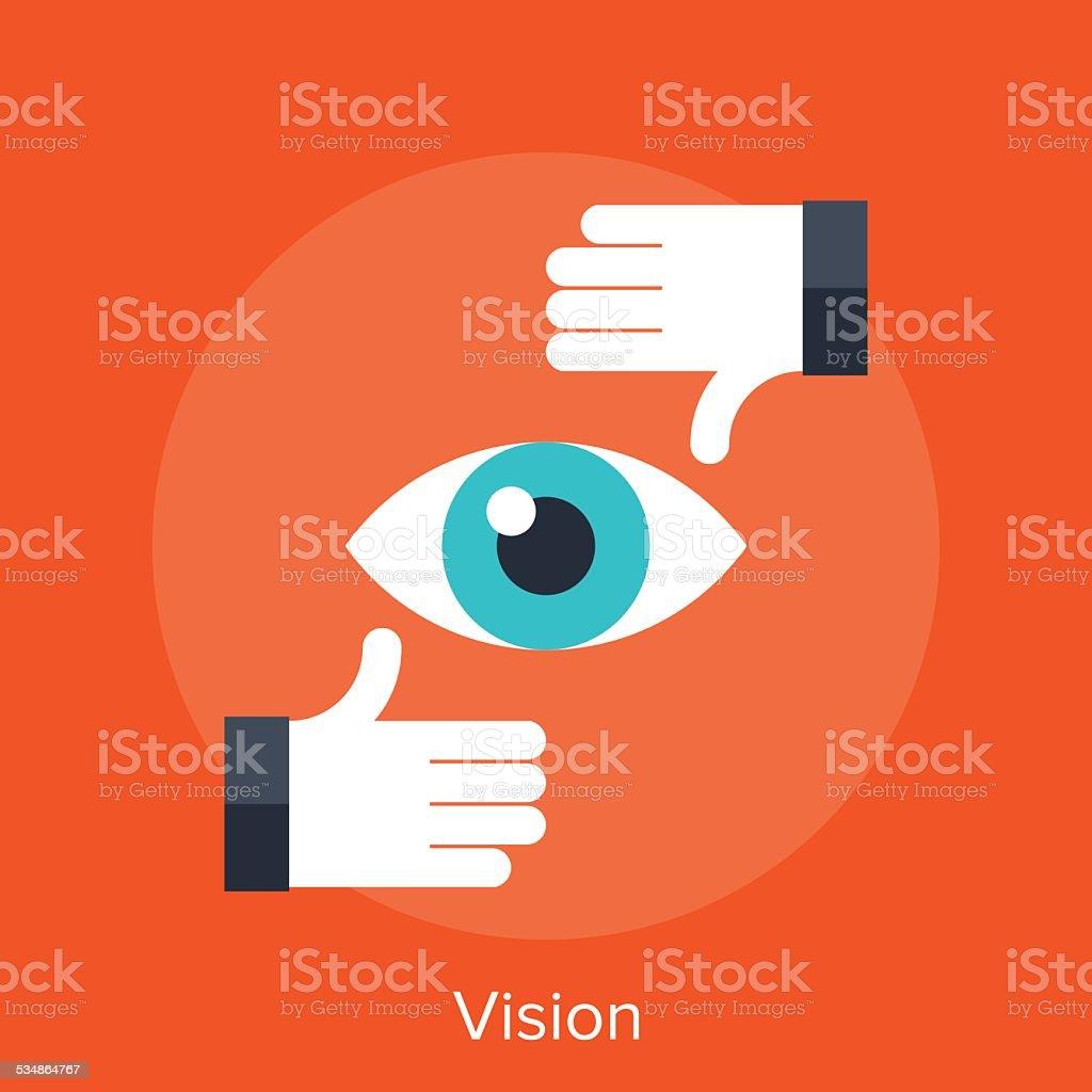 Vision vector art illustration