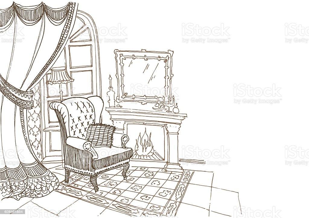 visit card  furniture 1 vector art illustration