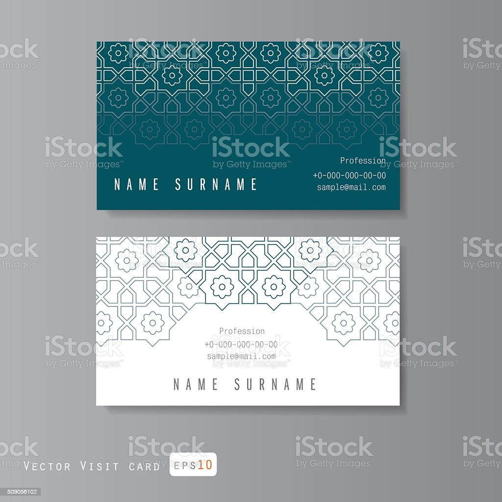 Visit cards set vector art illustration