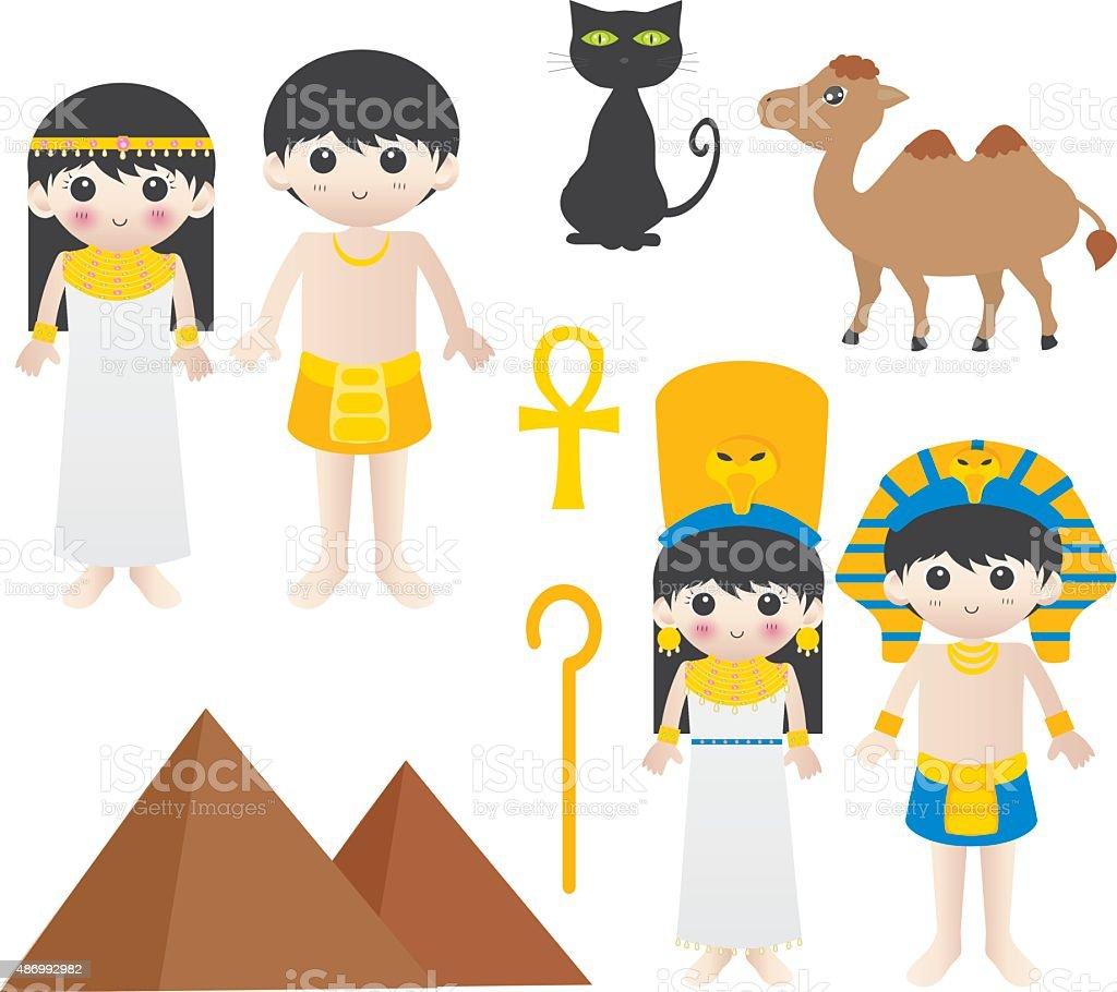 Visit Egypt vector art illustration