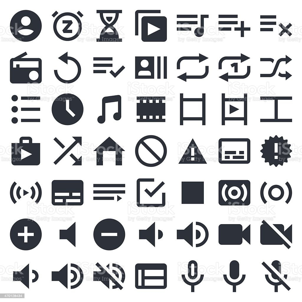 Visual Media icons set 2 | 49ers Series vector art illustration