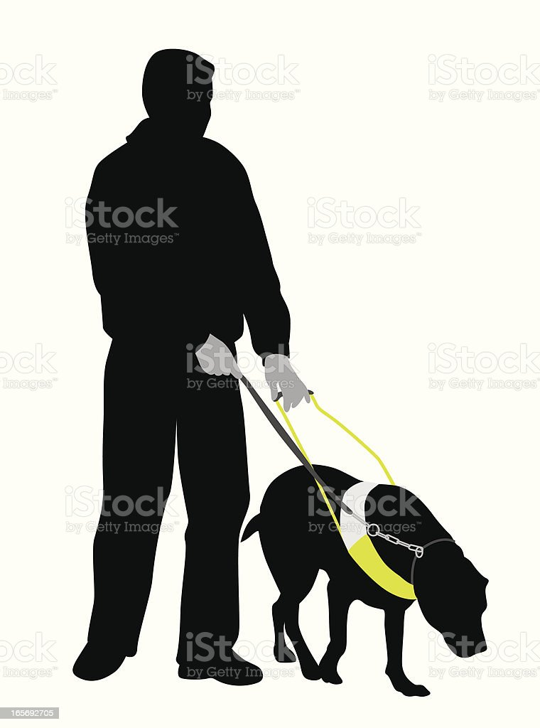 Visually Impaired Vector Silhouette royalty-free stock vector art