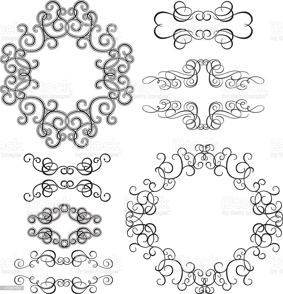 Vitage Frames and Design Elements royalty-free stock vector art