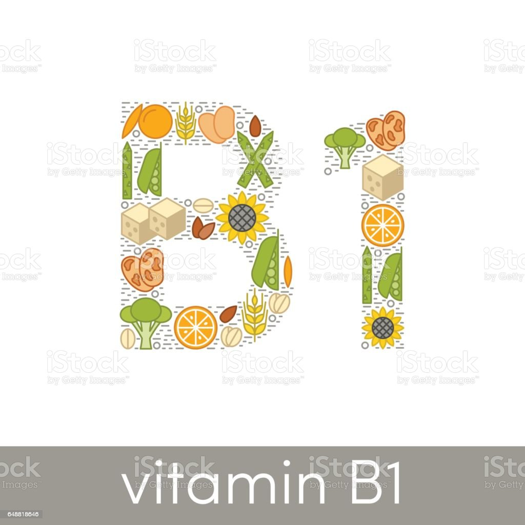 Vitamin B1 vector vector art illustration