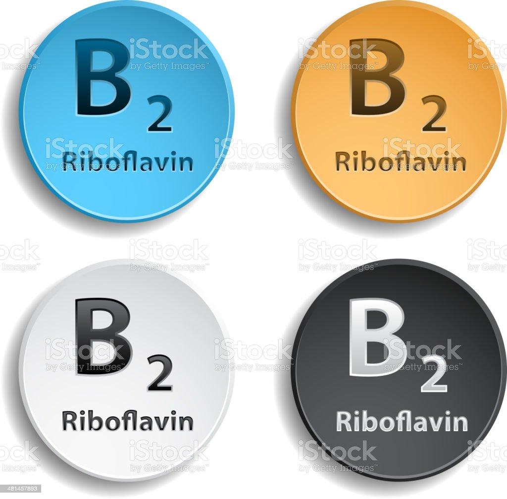 Vitamin B2 royalty-free stock vector art