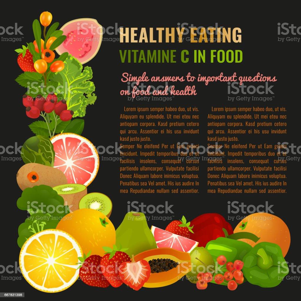Vitamin C Image vector art illustration
