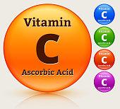 Vitamin C Multi Colored Button Set