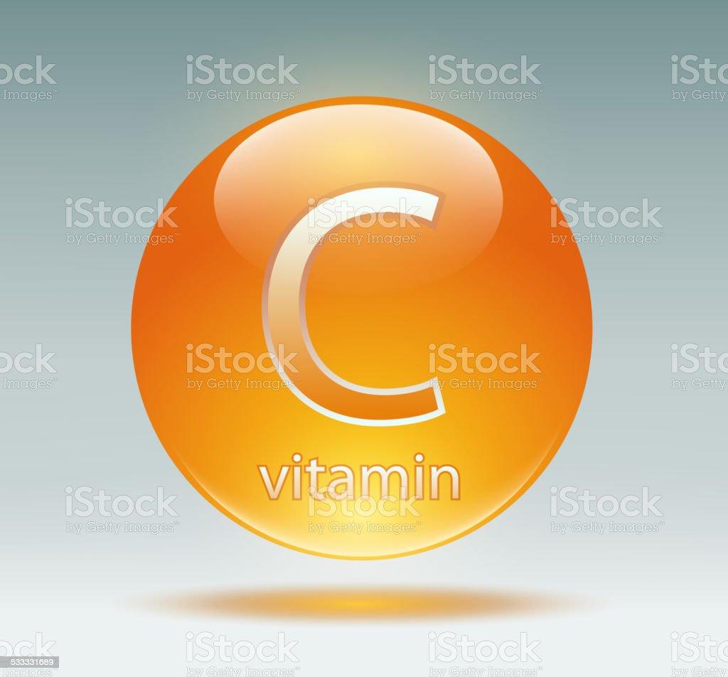 vitamin C vector art illustration