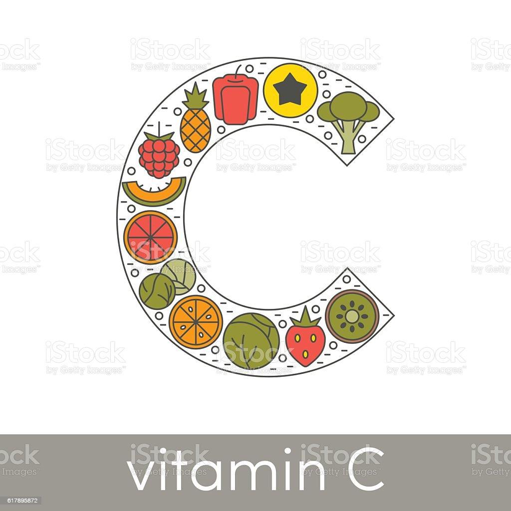 Vitamin C vector vector art illustration