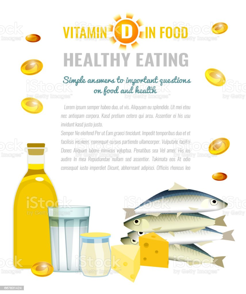 Vitamin D Image vector art illustration