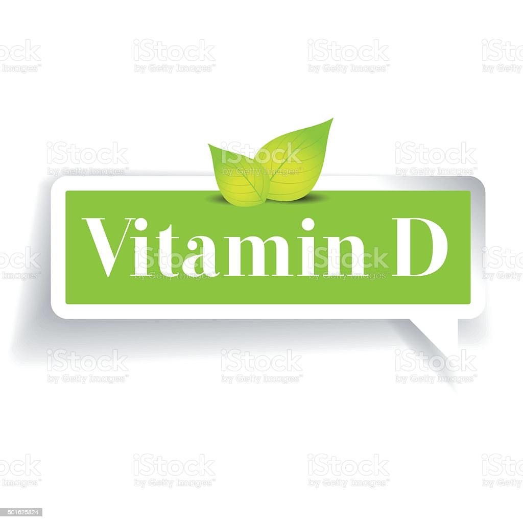 Vitamin D label vector vector art illustration