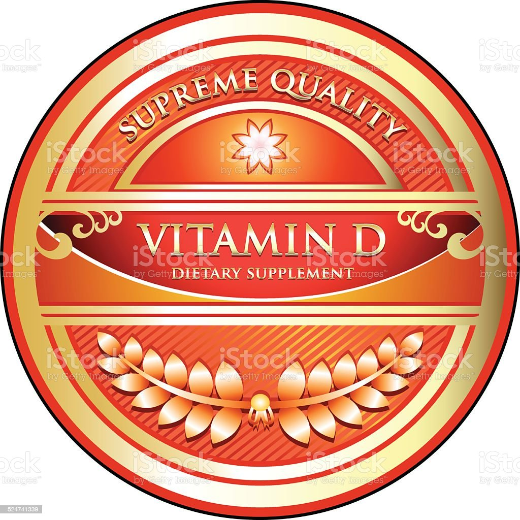 Vitamin D vector art illustration