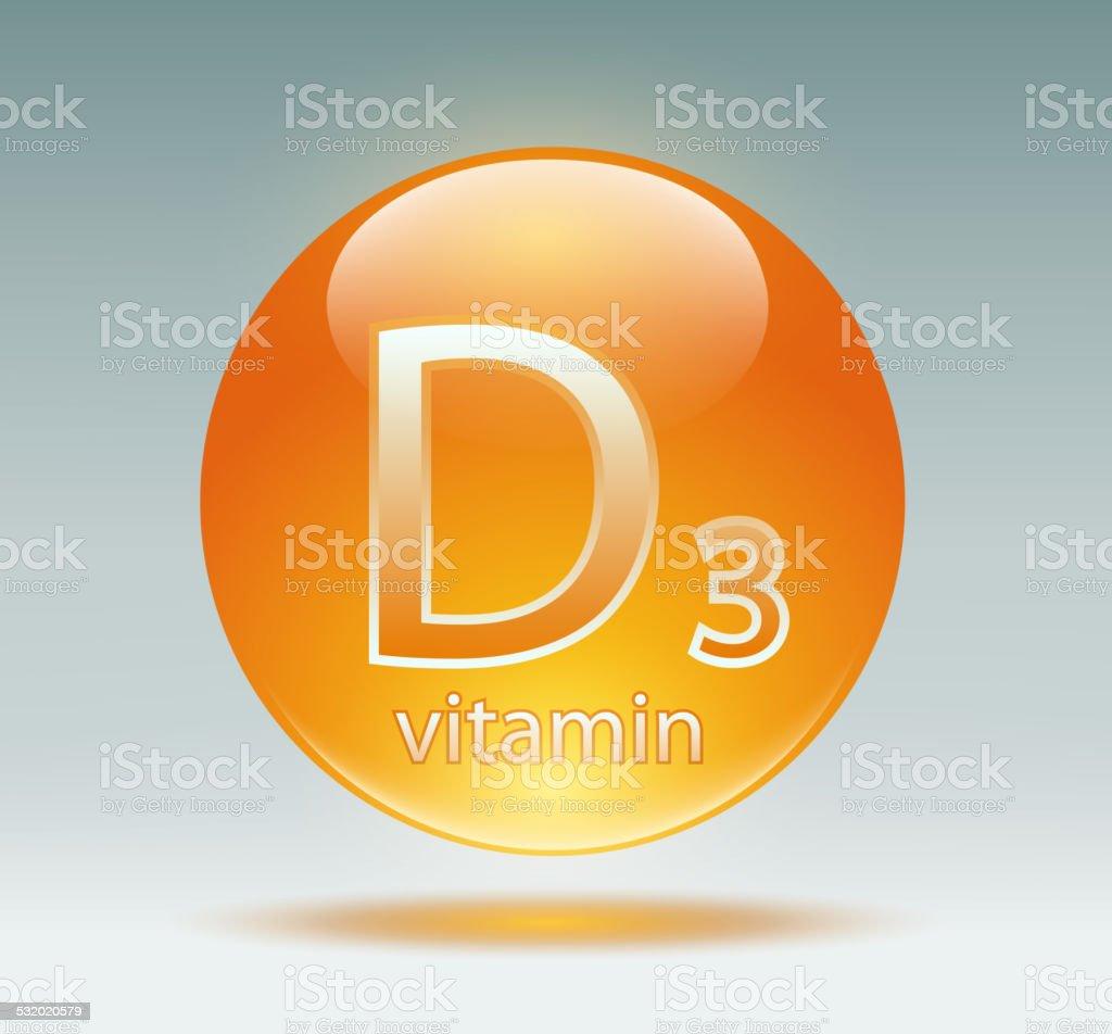 vitamin D3 vector art illustration