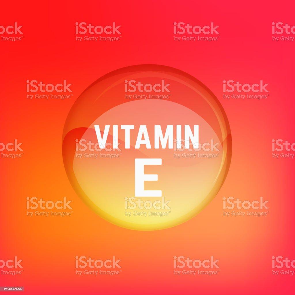 Vitamin E 02 A vector art illustration