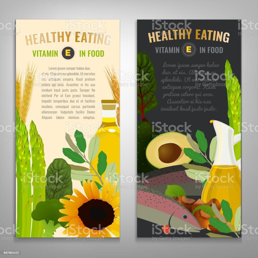 Vitamin E Image vector art illustration