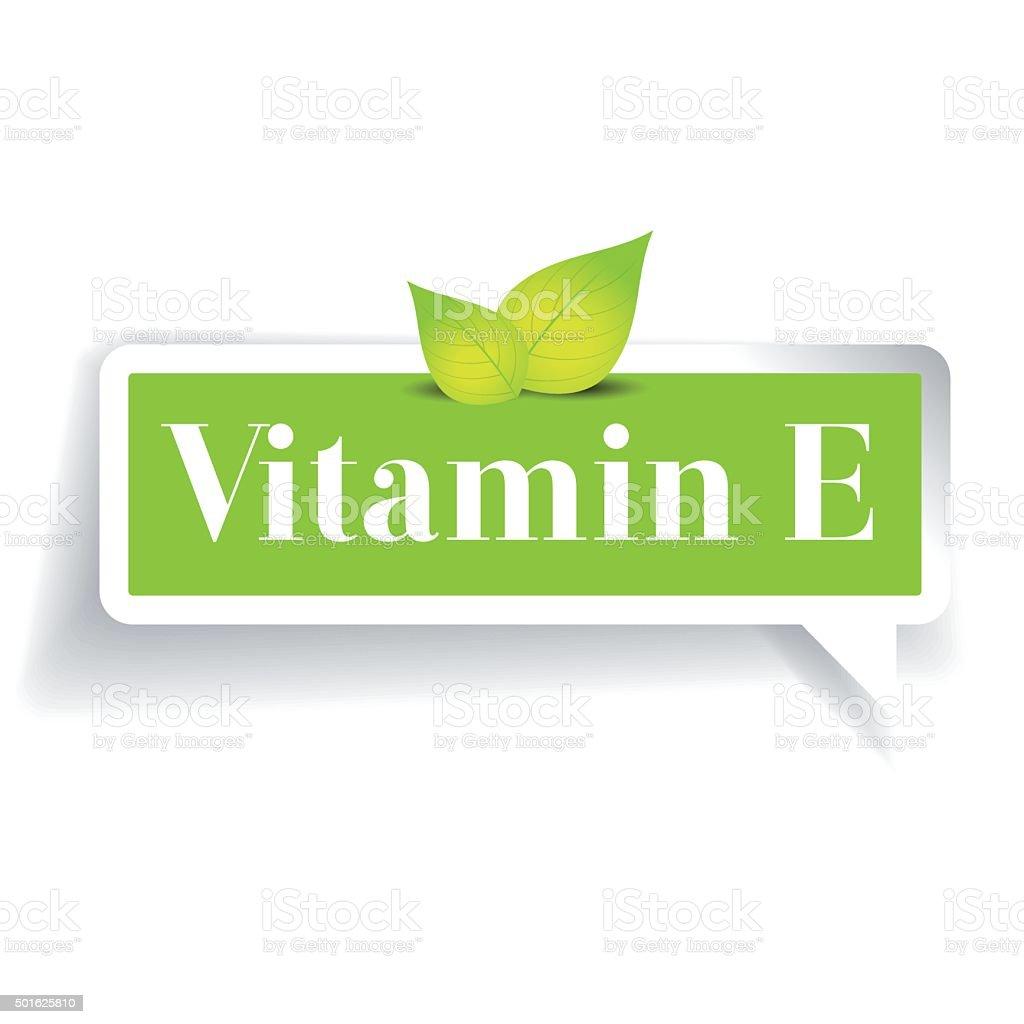 Vitamin E label vector vector art illustration