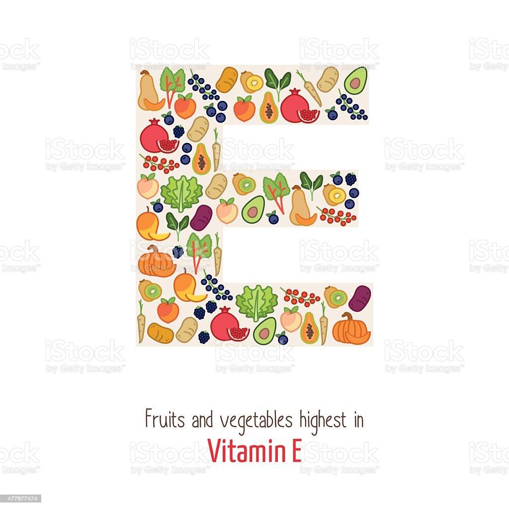 Vitamin E vector art illustration