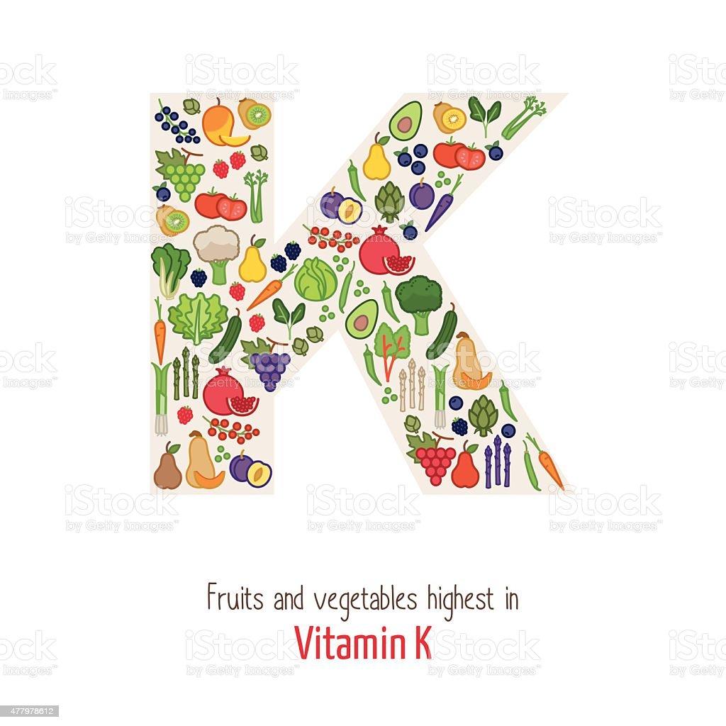 Vitamin K vector art illustration