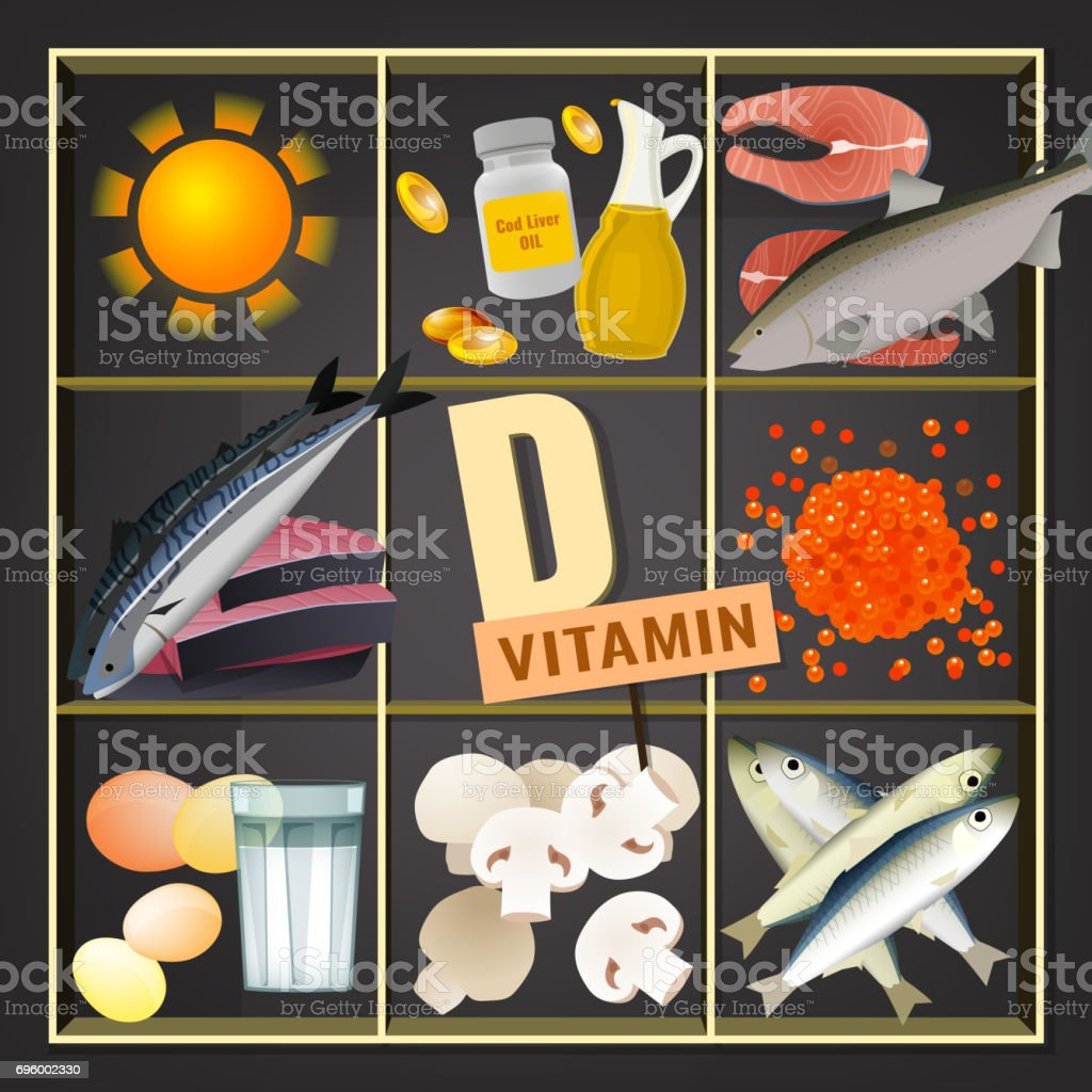 Vitamins Box Image vector art illustration